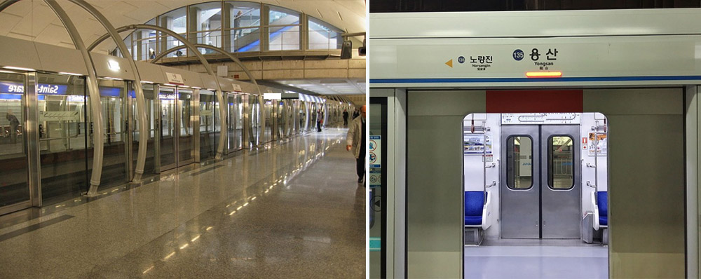 Airport and train automatic doors