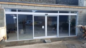 shop front with sliding doors